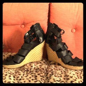 Dolce Vita strappy Knit wedge heels